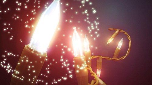 Футаж - Рождественские свечи