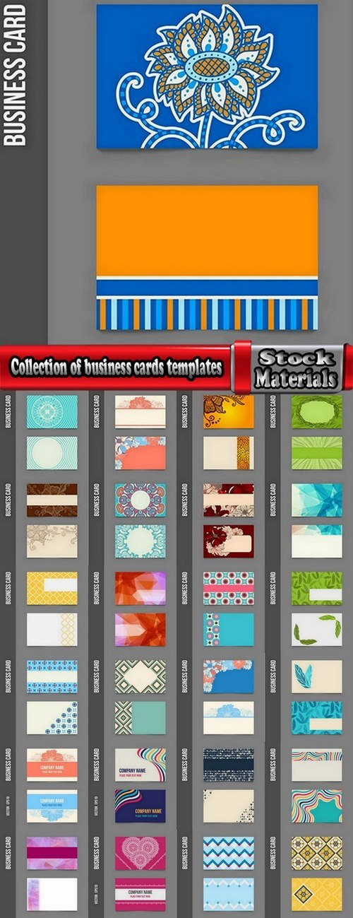 Collection of business cards templates #6-25 Eps