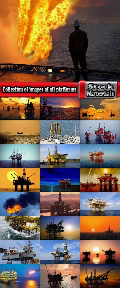 Collection of images of oil platforms 25 HQ Jpeg