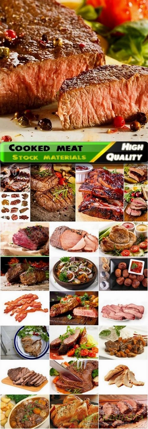 Cooked and grilled meat Stock images - 25 HQ Jpg
