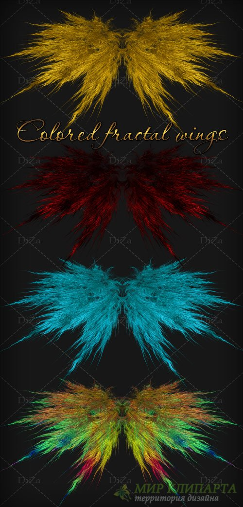 Colored fractal wings