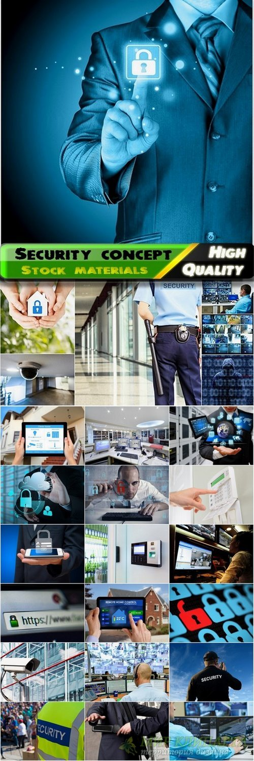 Conceptual Images with theme of security - 25 HQ Jpg