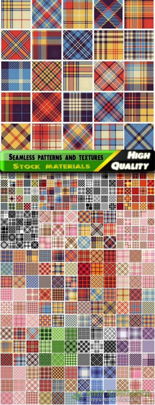 Seamless patterns and textures of cloth - 25 Eps