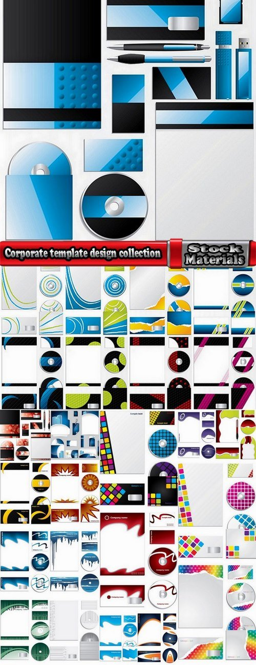 Corporate template design collection 25 Eps