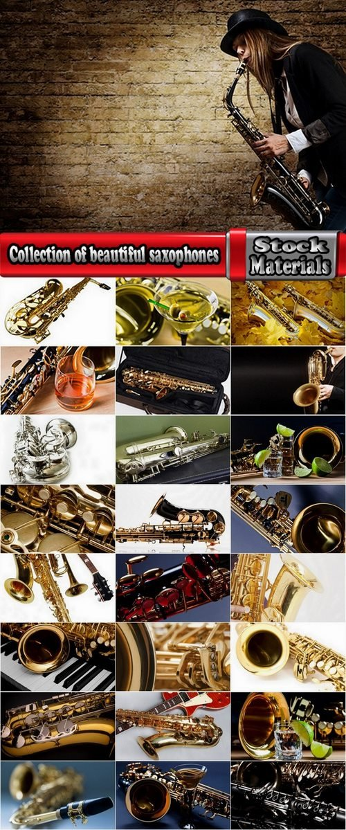 Collection of beautiful saxophones 25 HQ Jpeg