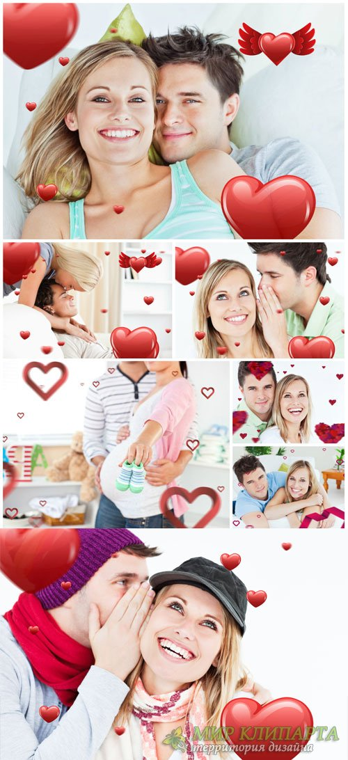 Valentine's Day, couples - stock photos