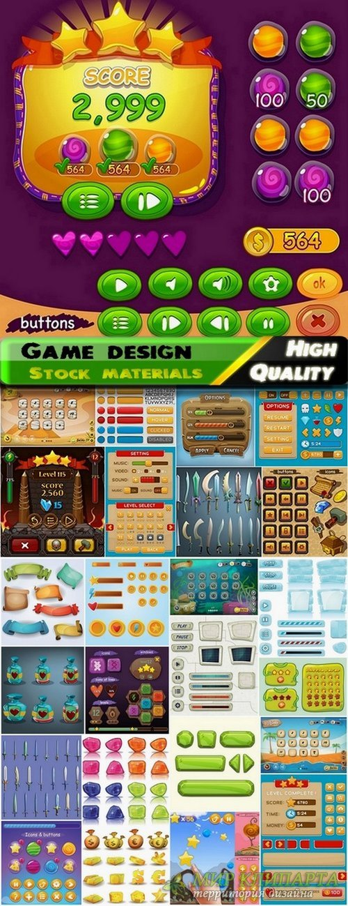 Vector elements for game design from stock 2 - 25 Eps