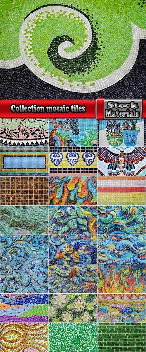 Collection mosaic tiles 25 HQ Jpeg