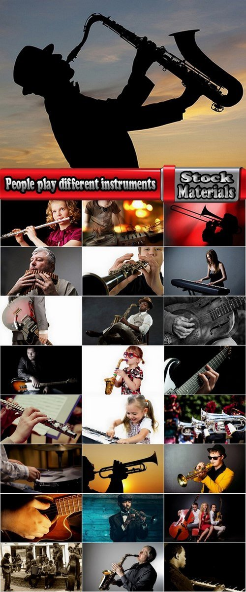People play different instruments 25 HQ Jpeg