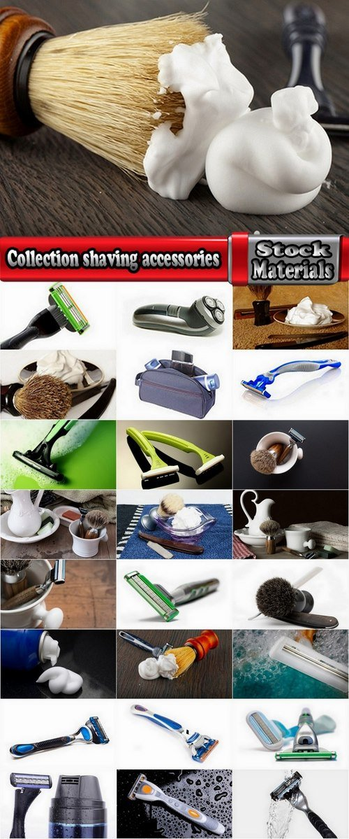 Collection shaving accessories 25 HQ Jpeg