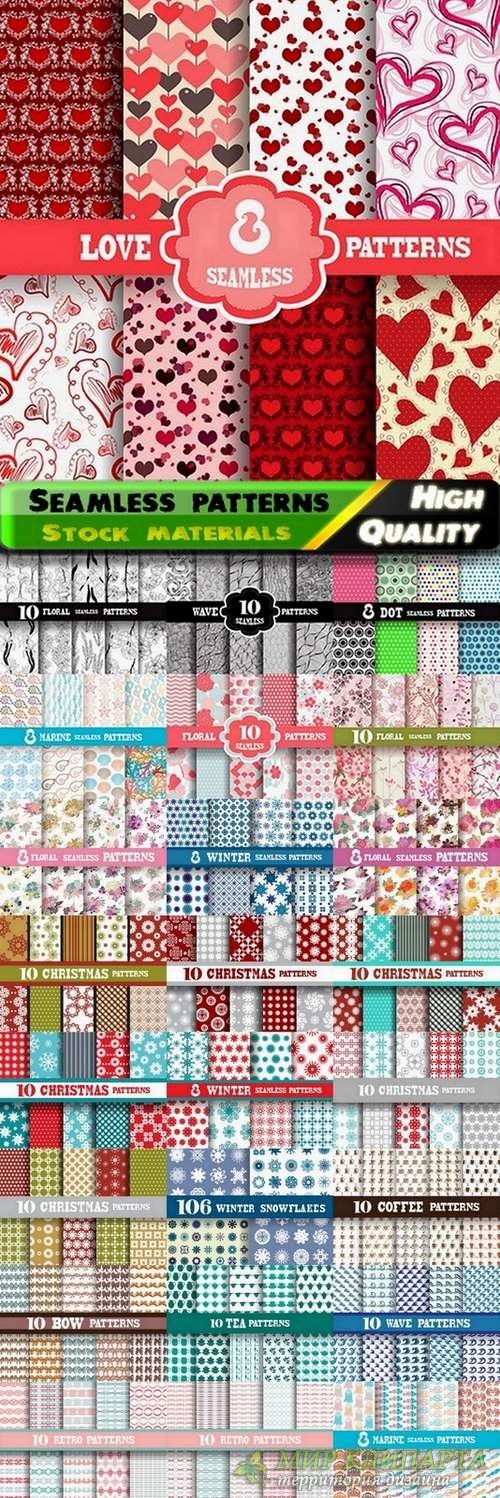 Abstract  Seamless patterns in vector set from stock #28 - 25 Eps