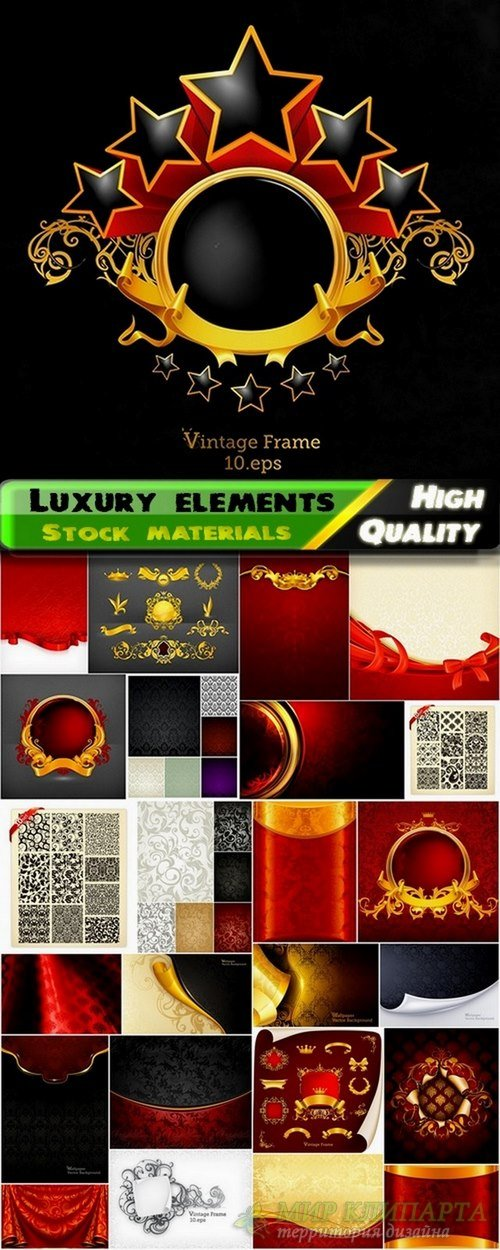 Template design elements and luxury backgrounds - 25 Eps