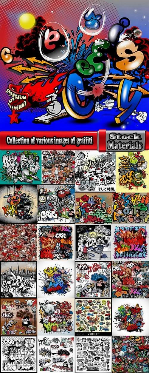 Collection of various images of graffiti 25 Eps