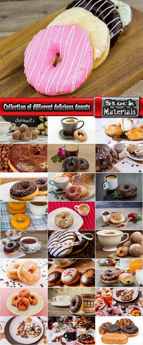 Collection of different delicious donuts 25 HQ Jpeg