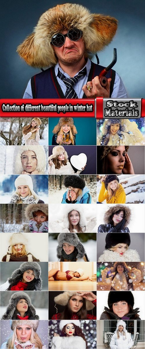 Collection of different beautiful people in winter hat 25 HQ Jpeg