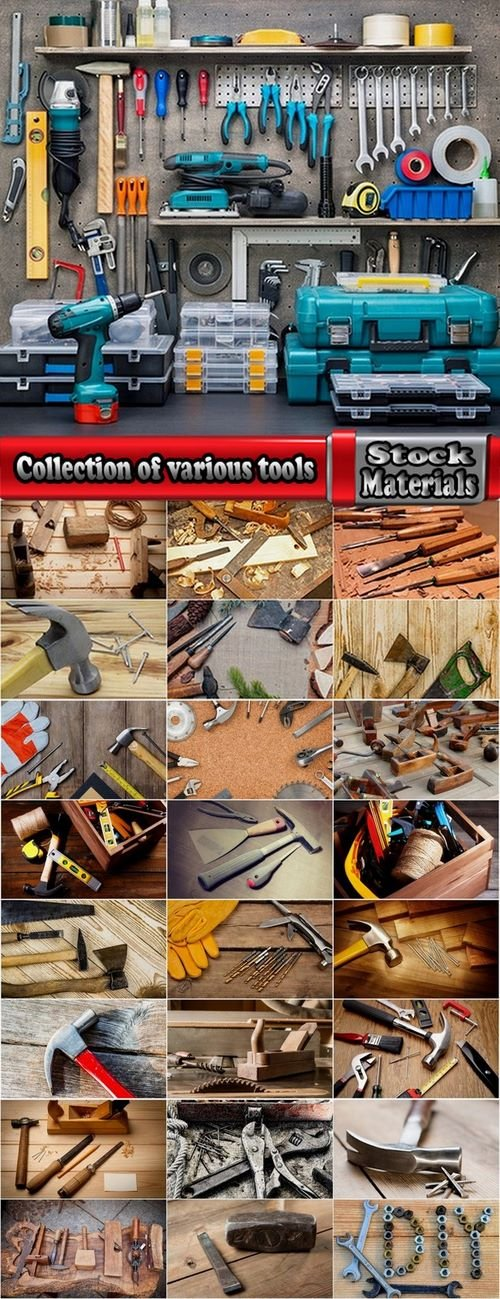 Collection of various tools 25 HQ Jpeg