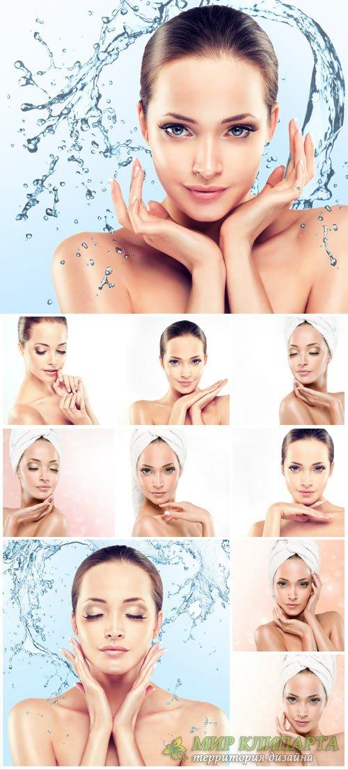 Beautiful women, body care - stock photos