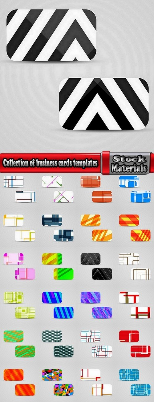 Collection of business cards templates #7-25 Eps