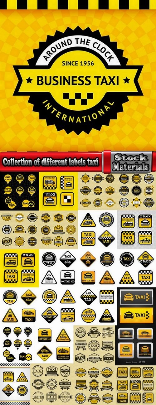 Collection of different labels taxi #2-25 Eps