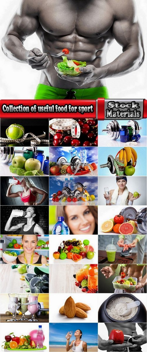 Collection of useful food for sport 25 HQ Jpeg
