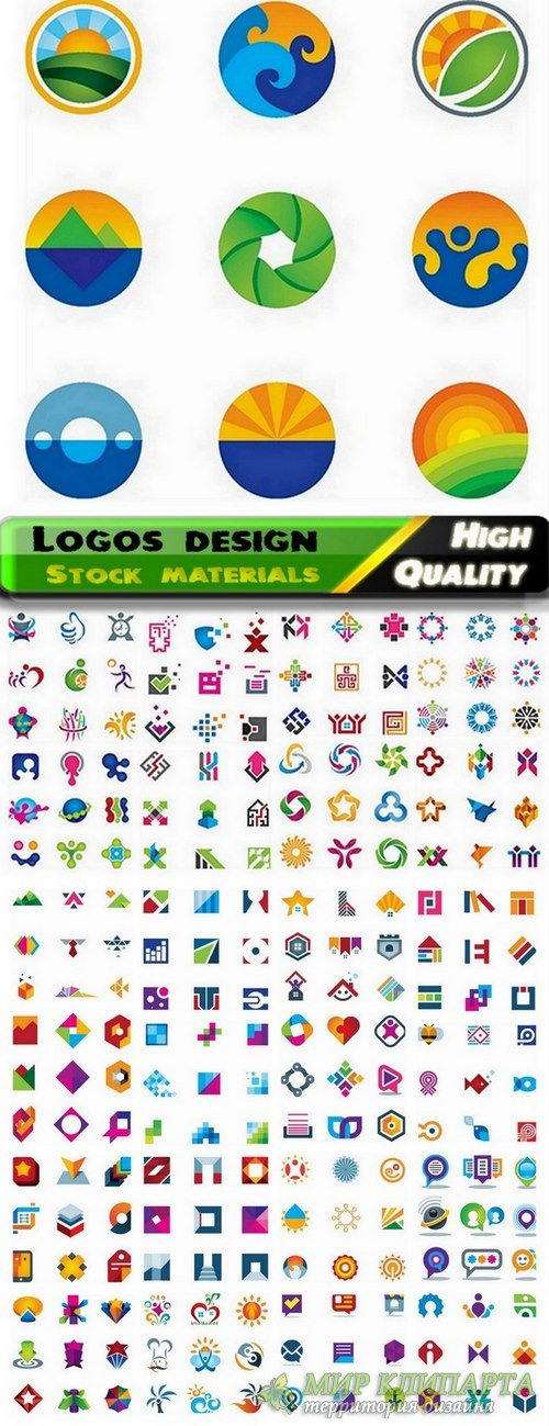Logo Design in vector Set from stock #58 -  25 Eps