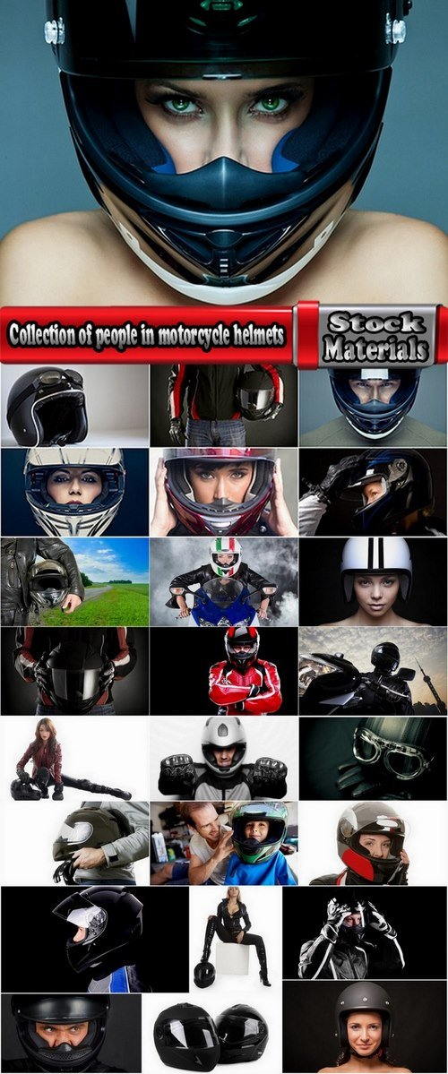 Collection of people in motorcycle helmets 25 HQ Jpeg