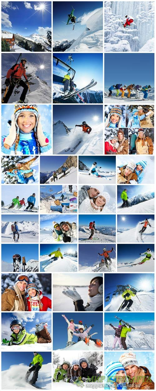 People and skiing - winter stock photos