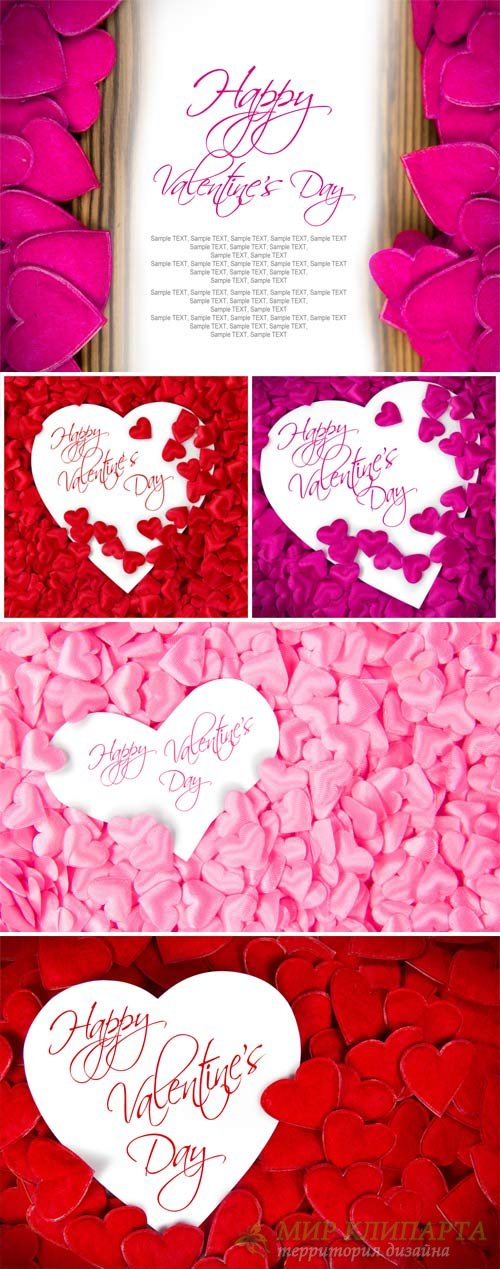 Valentine's Day background with little hearts