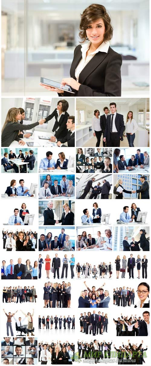 Business people, man, woman, groups - stock photos