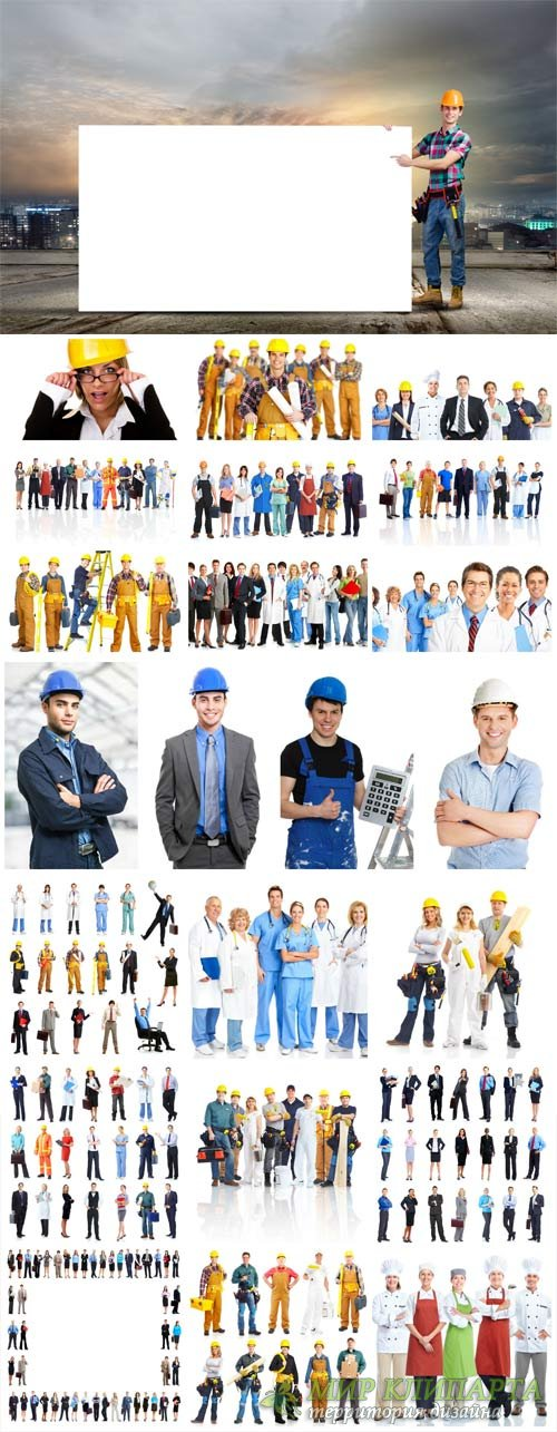 People of different proffesii, men, women, groups - stock photos