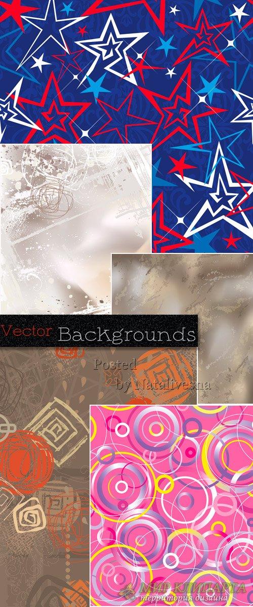 Абстрактные фоны в Векторе – Звезды, круги и линии