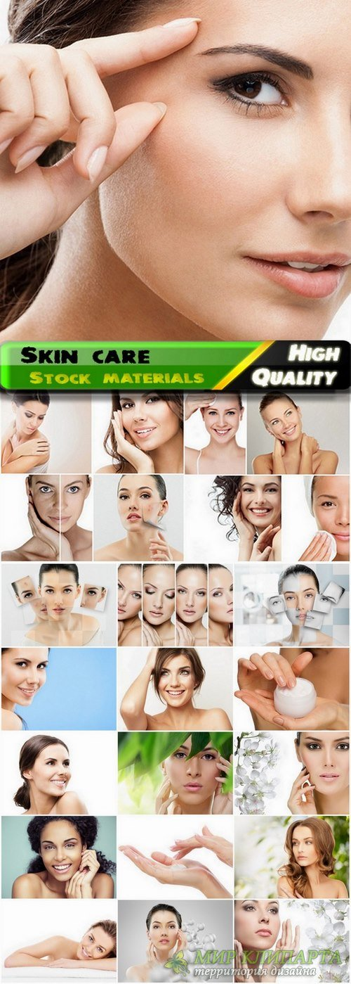 Beautiful women and skin care Stock images - 25 HQ Jpg