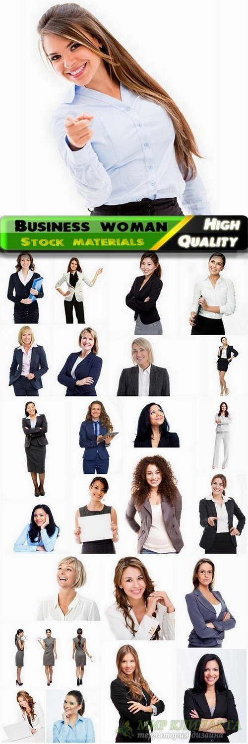 Business woman isolated on white - 25 HQ Jpg