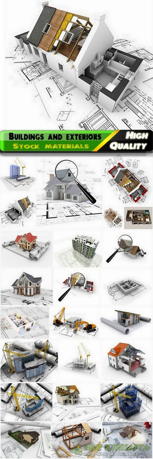 Drawings of buildings and exterior design Stock images #3 - 25 HQ Jpg