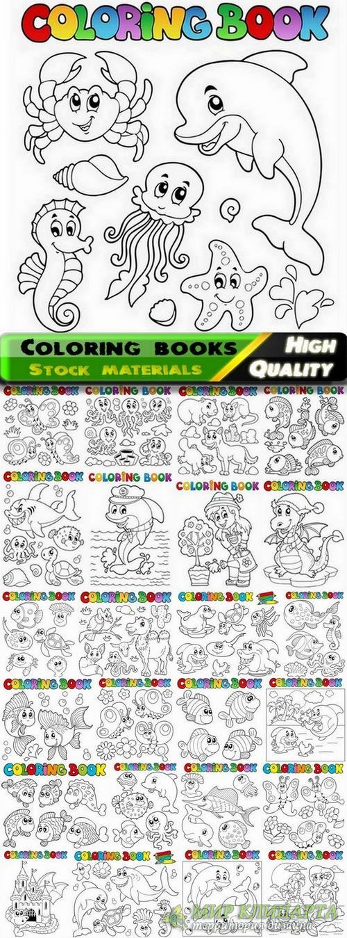 Coloring books for kids with nature and animals - 25 Eps