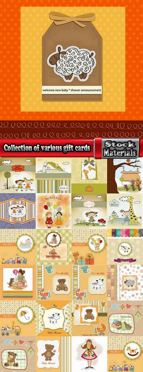 Collection of various gift cards #8-25 Eps