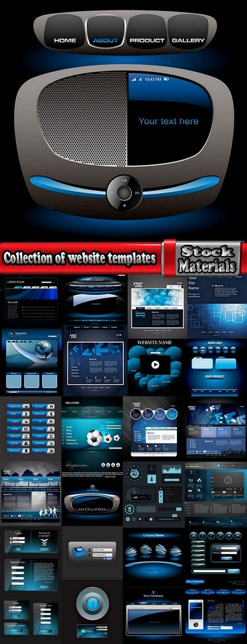 Collection of website templates #7-25 Eps