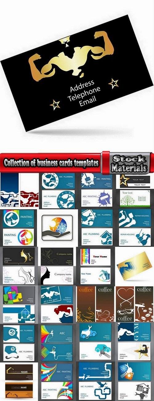 Collection of business cards templates #8-25 Eps