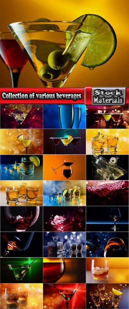 Collection of various beverages 25 HQ Jpeg