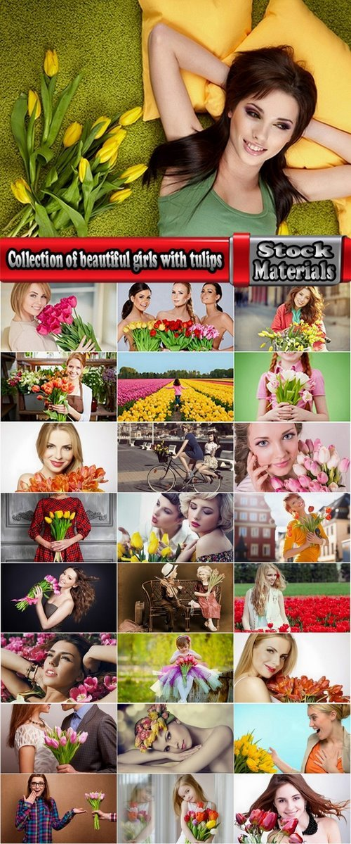 Collection of beautiful girls with tulips 25 HQ Jpeg