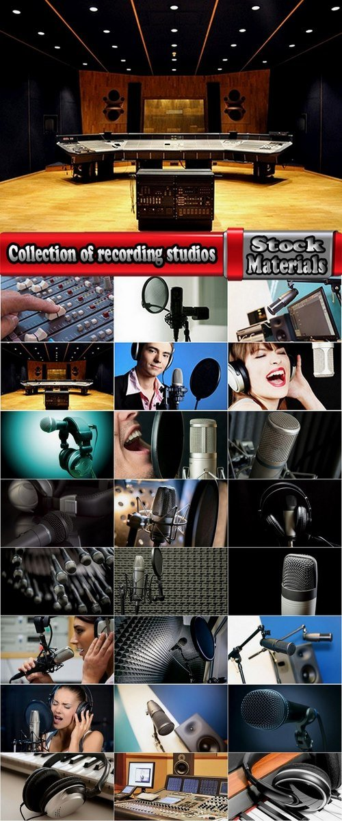 Collection of recording studios 25 HQ Jpeg