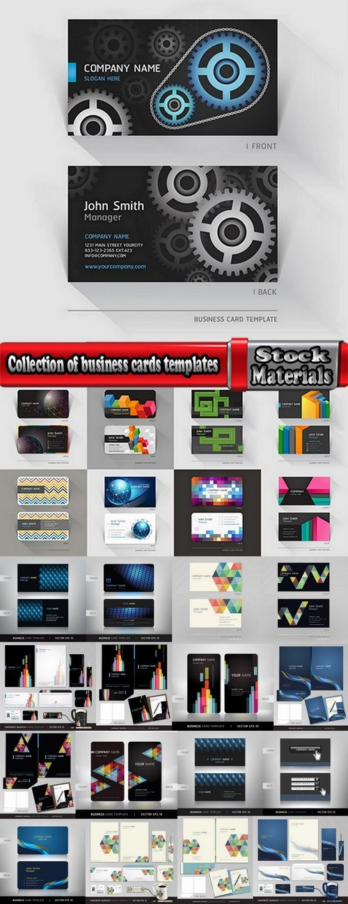Collection of business cards templates #9-25 Eps