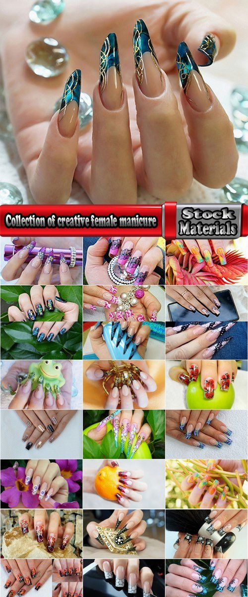 Collection of creative female manicure #2-25 UHQ Jpeg