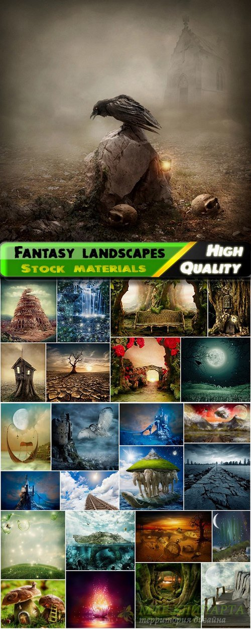 Fantasy landscapes and unusual world - 25 HQ Jpg