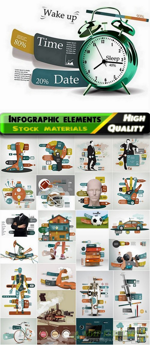 Infographic design elements in vector from stock #104 - 25 Eps