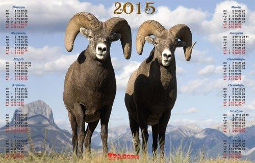Настенный календарь на 2015 год – Горный козел